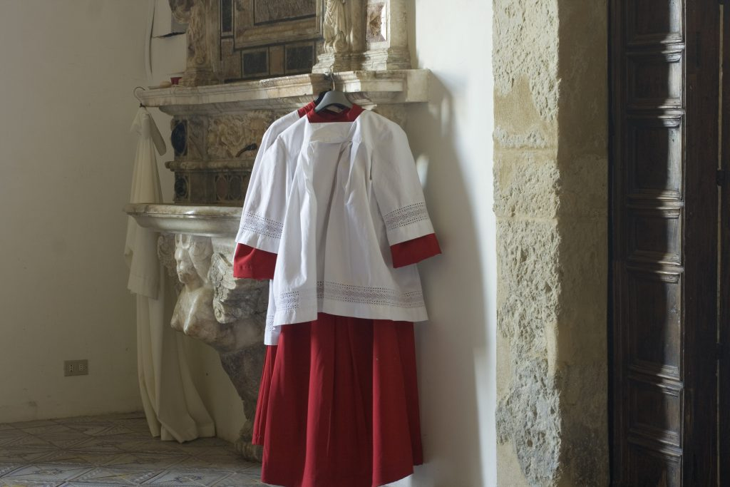 Cassock for altar boy, Enna cathedral