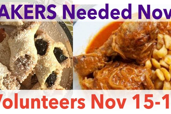 Bakers & Volunteers Needed for Feather Party