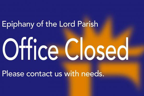 Parish Office Closed