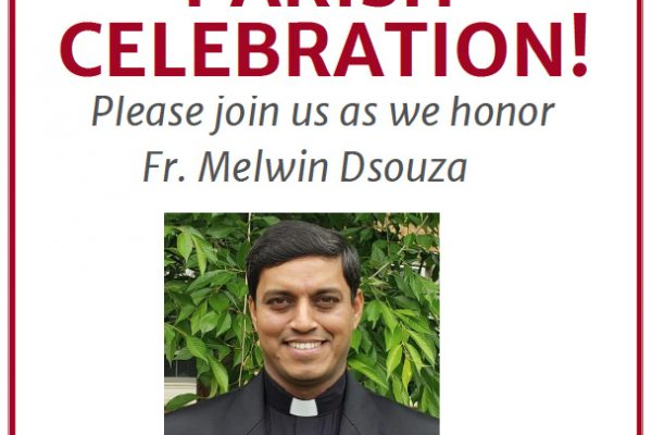 Parish Celebration: Fr. Melwin